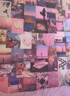 Pink Aesthetic Pretty Retro Wall Collage Kit VSCO Vintage Room Decor Large size prints, photos, pictures