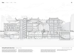 """Image 9 of 15 from gallery of Studying the """"Manual of Section"""": Architecture's Most Intriguing Drawing. Taichung Metropolitan Opera House by Toyo Ito & Associates (2016). Published in Manual of Section by Paul Lewis, Marc Tsurumaki, and David J. Lewis published by Princeton Architectural Press (2016). Image © LTL Architects"""