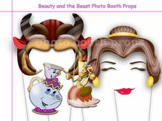 Beauty and the Beast Party Photo booth Props by SweetPartyStudio