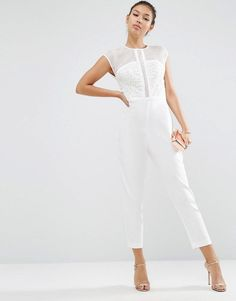 ce5875b22b36 19 Best White Jumpsuit images