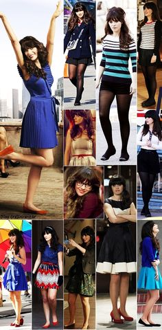 Zooey Deschanel as Jess Day - I love everything she wears.