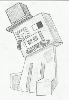 realistic minecraft drawings - Google Search