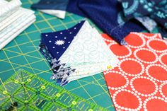 In Color Order: Scrappy Bear Paw Baby Quilt Tutorial