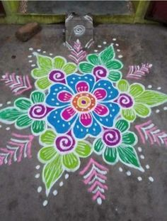 In search of the best Rangoli designs? Here's that well-curated roundup you were looking for! HappyShappy has tons of fresh ideas ranging from peacocks to dots to freehand. Here are the best ideas that are currently trending. Best Rangoli Design, Easy Rangoli Designs Diwali, Indian Rangoli Designs, Rangoli Designs Latest, Simple Rangoli Designs Images, Rangoli Designs Flower, Free Hand Rangoli Design, Small Rangoli Design, Rangoli Border Designs