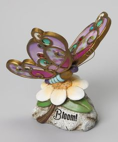 Take a look at this Butterfly Garden Stone by Enchanting Garden: Outdoor Décor on @zulily today!
