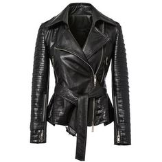Pavement Leather jacket ($105) ❤ liked on Polyvore featuring outerwear, jackets, black, black jacket, leather jacket, 100 leather jacket, real leather jacket and genuine leather jacket