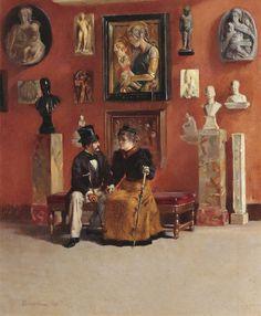 Odoardo Borrani Rendezvous in den Uffizien 1878