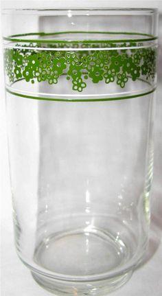 Corelle SPRING BLOSSOM Lot of 2 Glass Glassware by libertyhallgirl $24.99