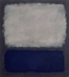 From Fondation Beyeler, Mark Rothko, Blue and Grey (1962), Oil on canvas, 193 × 175 cm