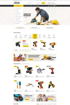 Tools WooCommerce Theme - Wordpress Themes and Plugins Squeeze Page, Website Design Inspiration, Ecommerce Website Design, Wordpress Theme, Wordpress Store, Wordpress Plugins, Web Layout, E Commerce, Tools