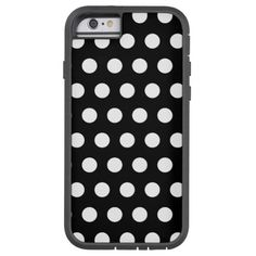 Black and White Polka Dots iPhone 6 Case