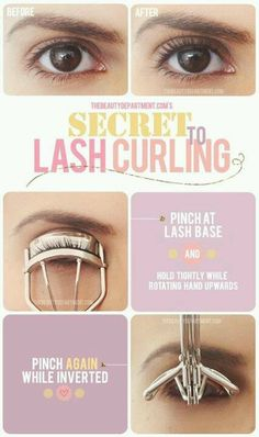 How to curl your lashes
