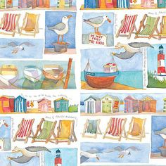 Beautiful British Summer prints by Emma Ball featured on the print and pattern blog!