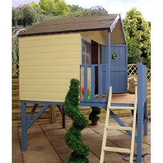 Honeysuckle Playhouse and Tower Boys Playhouse, Wooden Playhouse, Design Mignon, Tongue And Groove Panelling, Apex Roof, Outdoor Play, Outdoor Decor, Wendy House, Sand Pit
