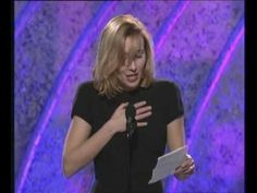 """Emma Thompson's Golden Globe acceptance speech for best adapted screenplay for """"Sense and Sensibility.""""  Best acceptance speech in history."""