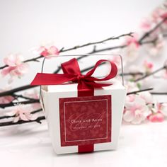 Wedding Favors & Party Supplies - Favors and Flowers :: Wedding Favor Themes :: Asian Theme Wedding Favors :: White Chinese Takeout Favor Box - 12 pcs