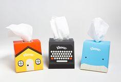 Kleenex Desktop Companion (Student Work) on Packaging of the World - Creative Package Design Gallery Brand Packaging, Box Packaging, Product Packaging, Smart Packaging, Design Packaging, Product Label, Packaging Design Inspiration, Creative Inspiration, Kleenex Box