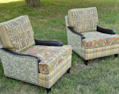 "Custom Club Chairs custom order - upholstered swivel club chair ""torreya's fiesta"