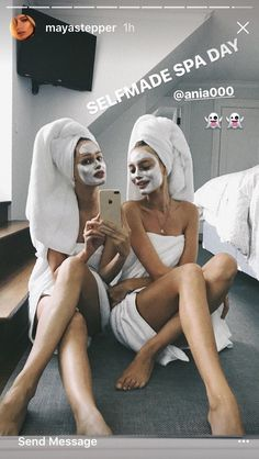 Spa day together Best Friend Pictures, Bff Pictures, Friend Pics, Besties, Bestfriends, Tumblr Bff, Photos Originales, Photos Tumblr, Gal Pal