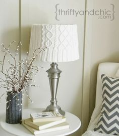 Thrifty and Chic - DIY Projects and Home Decor :: lampshade covers using old tshirts