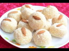 Coconut Balls/Ladoo Recipe : How to make Coconut Balls/Ladoo with Condensed Milk ~ Diet Health and Fashion Sweets Recipes, Indian Food Recipes, Desserts, Yummy Snacks, Yummy Food, Milk Diet, Breakfast Bread Recipes, Coconut Balls, India Food