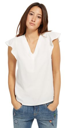Shirt-Bluse im Material-Mix - mixed blouse  top von TOM TAILOR