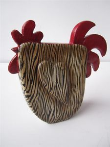 Zebra and rooster kitchen