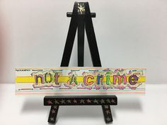 My #etsy shop #Mini #Handmade #Sticker Titled #NotACrime https://etsy.me/2GHMoqF #ArgüelloArts #colors #art #ooak #wordporn #acidmath #penart #funky #groovie #unique #lettering #freehand #trippy #streetart #graffiti #hippie #gogolbordello #gypsypunk #immigrantpunk
