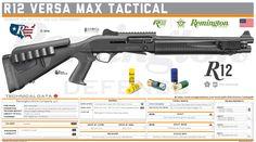 Remington Arms Company, LLC -  R12 Versa Max Tactical Military Brat, Military Weapons, Weapons Guns, Guns And Ammo, Shotguns, Firearms, Tactical Shotgun, Gun Art, Everything