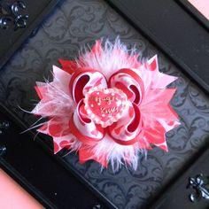 valentines hair bow