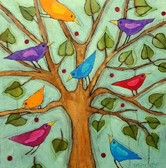 Bye Bye Birdy. Vanessa Cooper, Whimsical Art, Bye Bye, Bird Art, Folk Art, Arts And Crafts, Birds, Craft Ideas, Artists