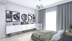 Bedroom design by Mialmi Design Bedroom, Bedroom Inspo, Bedroom Decor, Modern Contemporary, Bedrooms, Gallery Wall, Interior Design, Grey, House
