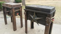 This link won't last because it is craigslist...but these wooden ice-chests are cute.