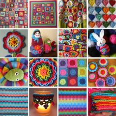 Awesome website full of inspiration for crochet. I love her color combinations and I have to say I'm completely jealous of her life!