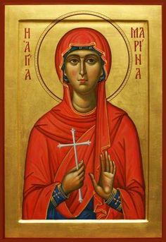 Margaret (Marina) of Antioch Mary Magdalene And Jesus, Greek Icons, St Margaret, Byzantine Icons, Orthodox Icons, Sacred Art, Christian Art, Art Club, Religious Art