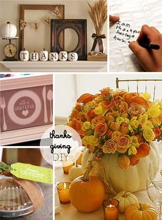 Thanksgiving crafts round-up! #Thanksgiving centerpieces #Thanksgiving printables #Thanksgiving DIY #Thanksgiving decor via Sisters of Nature