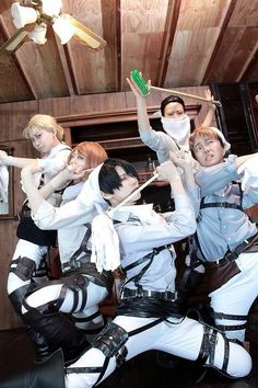 AOT Cosplay or  Attack on dirt ---> I guess you cannot fight titans every day