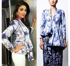 Check out her jacket. Read more http://fashionpro.me/shilpa-shettys-fabulous-spin-tie-dye-outfit