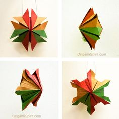 Post image for An Origami Snowflake –Great Homemade Christmas Ornament!