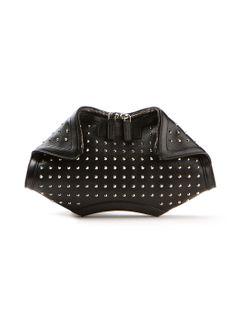 e4d9c03add Alexander McQueen Clutch bags    Alexander McQueen black studded-leather  clutch