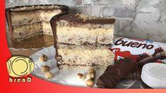 Kinder Bueno Cake Over All Cakes Brze Torte, Kolaci I Torte, Sweets Recipes, Baking Recipes, Cake Recipes, Desserts, Semolina Cake, Torte Recipe, Hazelnut Cake