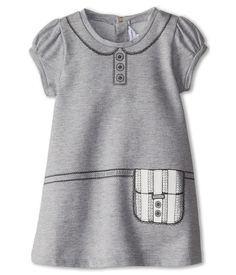 Little Marc Jacobs Tromp L'Oeil Terri Dress (Infant) Grey Chine - 6pm.com