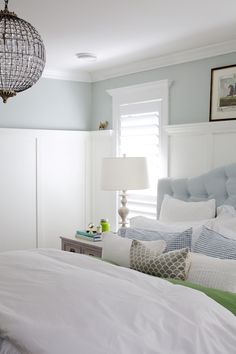 Harris spills her 5 best bedroom design tips and shows us how she gets a peaceful night's sleep!Jillian Harris spills her 5 best bedroom design tips and shows us how she gets a peaceful night's sleep! Jillian Harris, Farmhouse Bedroom Decor, Home Bedroom, Bedroom Wall, Master Bedroom, Bedroom Pics, Tranquil Bedroom, Teen Bedroom, Bed Room