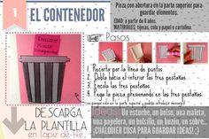 Pieza 1: el contenedor Interactive Notebooks, Counseling, Places, Ideas, School, Spanish Class, Templates, Interactive Science Notebooks, Thoughts