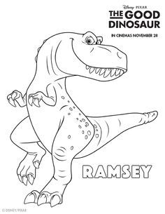 the good dinosaur colouring pages - Disney Dinosaur Coloring Pages