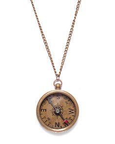 Vintage Compass Necklace -