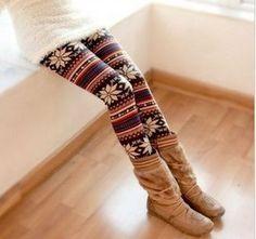 fair isle in tights