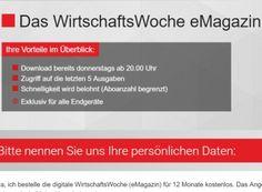 """Gratis: Digitalausgabe der """"Wirtschaftswoche"""" für ein Jahr zum Nulltarif https://www.discountfan.de/artikel/c_gratis-angebot/gratis-digitalausgabe-der-wirtschaftswoche-fuer-ein-jahr-zum-nulltarif.php Die digitale Ausgabe der """"Wirtschaftswoche"""" gibt es jetzt für kurze Zeit wieder komplett gratis. Vorteil dabei: Das Jahrsabo endet automatisch, muss also nicht extra gekündigt werden. Gratis: Digitalausgabe der """"Wirtschaftswoche"""" für ein Jahr zum Nul"""