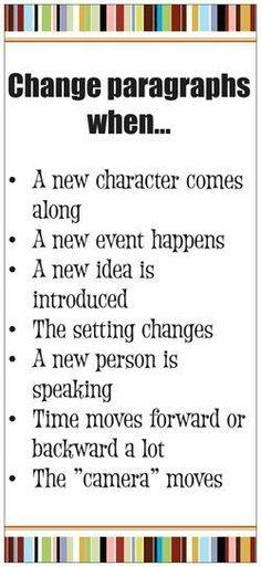 Change paragraphs when........