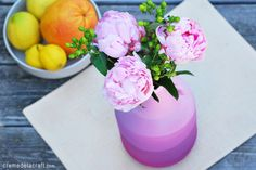 Crème de la Craft | DIY projects made from everyday objects. OMBRE VASE